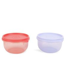 Tupperware Tropical Twins Containers Set Of 2 Red And Sky Blue - 230 ml