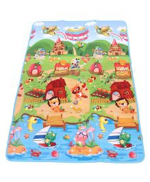 Smiles Creation Play Mat Animal And Castle Print - Multicolor