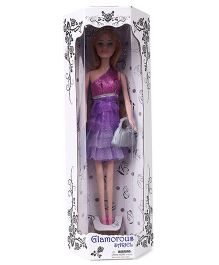 Doll With Handbag Purple - 28.5 cm