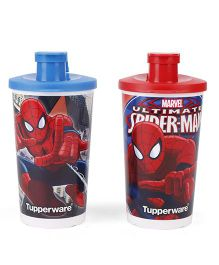 Tupperware Spiderman Sipper Tumbler Red Blue - 330 ml