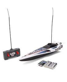 Maisto Hydro Blaster RC Speed Boat - Blue & White