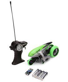 Maisto Cyklone 360 Remote Control Police Bike - Green & Silver