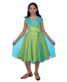 Ssmitn Sleeveless Party Dress - Green & Blue