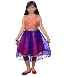 Ssmitn Sleeveless Party Dress - Pink & Blue
