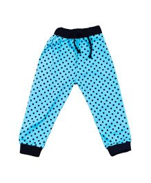 LOL Full Length Polka Dot Printed Track Pant - Blue