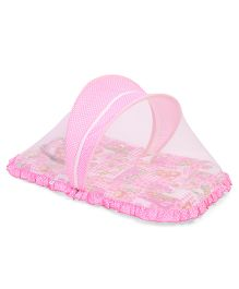Mee Mee Pink Mattress Set With Mosquito Net - Pink