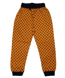 LOL Full Length Polka Dot Printed Track Pant - Orange