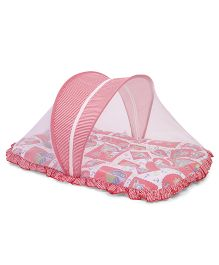 Mee Mee Pink Mattress Set With Mosquito Net Boat Print - Red