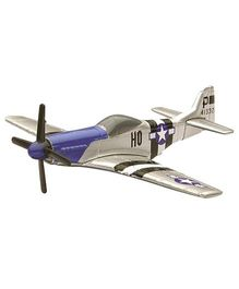 New-ray P-51D Mustang Fighter Plane - Blue Silver