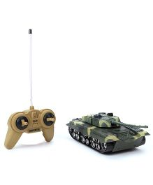 Remote Controlled Military War Tank - Green Black