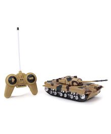 Remote Controlled Military War Tank - Brown Black