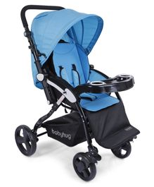 Babyhug Joy Ride Stroller - Blue & Black