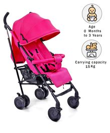 Babyhug Little Star Stroller With Aluminium Frame - Pink
