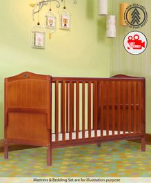 Babyhug Merlino Wooden Cot Bed - Walnut