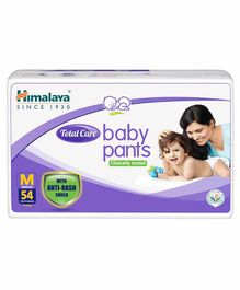 Himalaya Herbal Total Care Baby Pants Style Diapers Medium - 54 Pieces