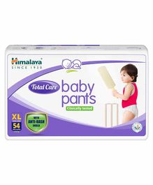 Himalaya Herbal Total Care Baby Pants Style Diapers Extra Large - 54 Pieces