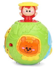 Winfun Roll N Pop Jungle Activity Ball - Multicolor