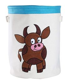 My Gift Booth Cow Embroidery Storage Bag - White Brown