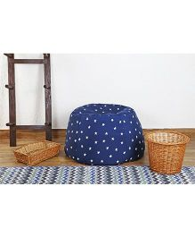 My Gift Booth Star Print Bean Bag - Blue