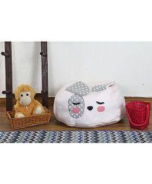 My Gift Booth Kitty Bean Bag - White