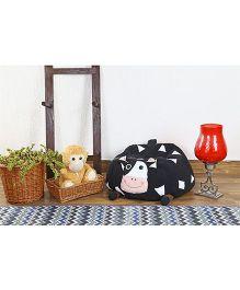 My Gift Booth Cow Design Bean Bag - Black