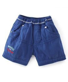 Olio Kids Pull On Shorts Cool Dude Embroidery - Royal Blue