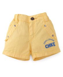Olio Kids Shorts Challenge Print - Yellow