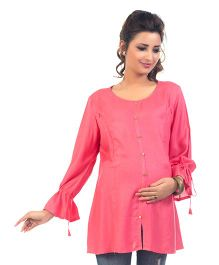 Kriti Long Sleeves Maternity Nursing Top - Pink