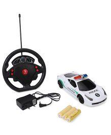 Remote Control Police Car - White Blue