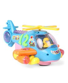 Cartoon Electric Musical Helicopters - Blue Orange