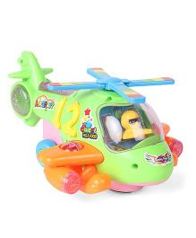 Cartoon Electric Musical Helicopters - Green Orange