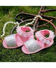 D'Chica Bling And Frills Crib Booties - Pink