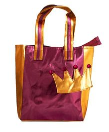 Li'Ll Pumpkins Crown Metalic Tote Bag - Pink
