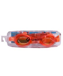 Li'Ll Pumpkins Penguin Swimming Glass - Orange