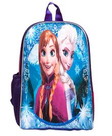 Li'Ll Pumpkins Cartoon Princess Printed School Bag - Pink & Blue