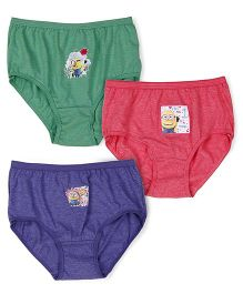 Minions Panties Pack of 3 - Green Blue Pink