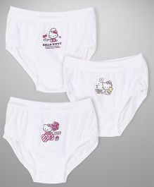 Hello Kitty Panties Printed Pack Of 3 - White