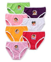 Dora Panties Printed Set Of 7 - Multicolor