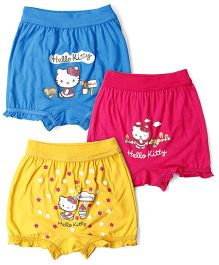 Hello Kitty Bloomers Pack Of 3 - Blue Pink Yellow