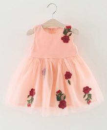 Pre Order - Awabox Rose Print Dress - Pink