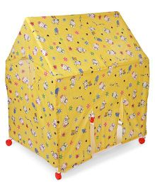 Kids Zone Play Tent House - Yellow