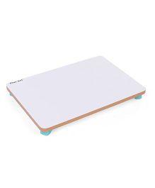Ratnas Foldable Study Table - White & Green