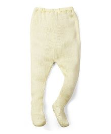 Babyhug Winter Wear Bootie Leggings - Lemon Yellow