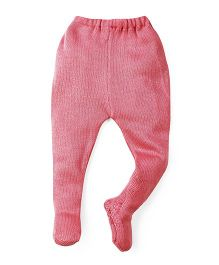 Babyhug Winter Wear Bootie Leggings - Pink