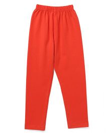 Simply Solid Color Full Length Leggings - Orange