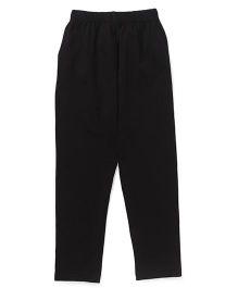 Simply Solid Color Full Length Leggings - Black