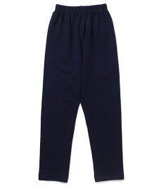 Simply Solid Color Full Length Leggings - Navy