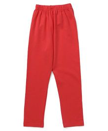 Simply Solid Color Full Length Leggings - Coral