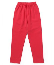 Simply Solid Color Full Length Leggings - Fuchsia Pink