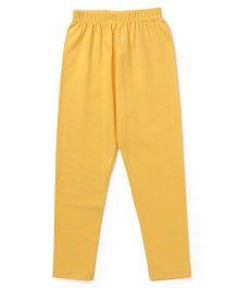 Simply Solid Color Full Length Leggings - Yellow